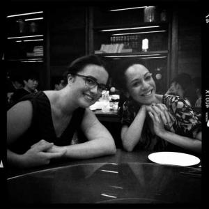 Fiction writers Amelia Gray and Kaui Hart Hemmings in Beijing. 